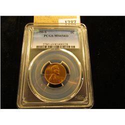 1787 _ 1950 S Lincoln Cent, PCGS slabbed MS65RD.