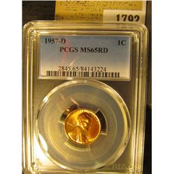 1792 _ 1957 D Lincoln Cent, PCGS slabbed MS65RD.