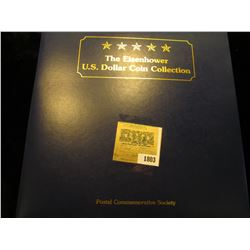 1803 _ The Eisenhower U.S. Dollar Coin Collection, by Postal Commemorative Society, all stamped, pos