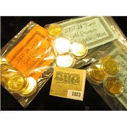 "1823 _ 2006, 2007, & 2008 ""24 Karat Gold (plated) Philadelphia Mint"" State Quarter Sets. All encapsu"