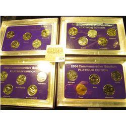 "1824 _ 2003, 2004, 2005, & 2006""Commemorative Quarters Platinum Edition"" Five-piece Statehood Quarte"