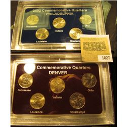 1827 _ 2002 Philadelphia & Denver Mint United States Statehood Quarters in special cases each of whi