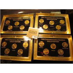 """1834 _ 1999, 2000, 2001, & 2002 """"Commemorative Quarters Gold Edition"""" Five-piece Statehood Quarter S"""