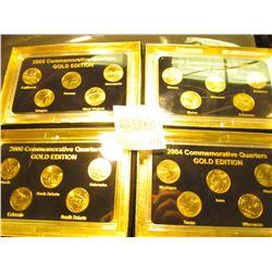 """1835 _ 2003, 2004, 2005, & 2006""""Commemorative Quarters Gold Edition"""" Five-piece Statehood Quarter Se"""