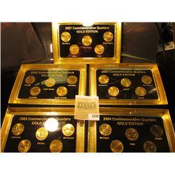 """1836 _ 2004, 2005, 2006, 2007, & 2008""""Commemorative Quarters Gold Edition"""" Five-piece Statehood Quar"""