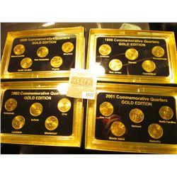"""1837 _ 1999, 2000, 2001, & 2002 """"Commemorative Quarters Gold Edition"""" Five-piece Statehood Quarter S"""