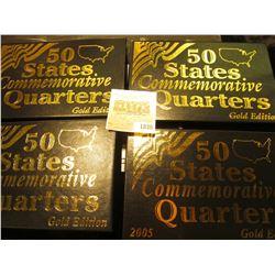 """1838 _ 2003, 2004, 2005, & 2006""""Commemorative Quarters Gold Edition"""" Five-piece Statehood Quarter Se"""