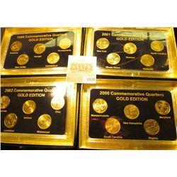 """1839 _ 1999, 2000, 2001, & 2002 """"Commemorative Quarters Gold Edition"""" Five-piece Statehood Quarter S"""