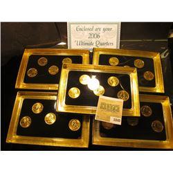 """1840 _ 2003, 2006, (2) 2007, & 2008 """"Commemorative Quarters Gold Edition"""" Five-piece Statehood Quart"""
