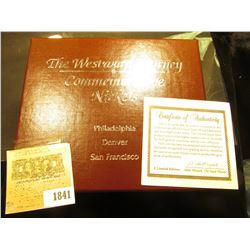 "1841 _ (3) ""The Westward Journey Commemorative Nickels Philadelphia Denver San Francisco"" Three-Piec"