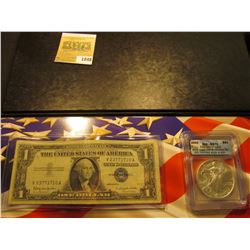 1848 _ Cased Set with Certificate of Authenticity containing Series 1957B $1 Silver Certificate & 20