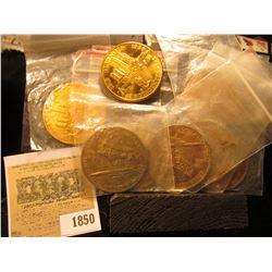 1850 _ (8) 1818-1968 Illinois Sesquicentennial Bronze Medals, 39mm, BU.