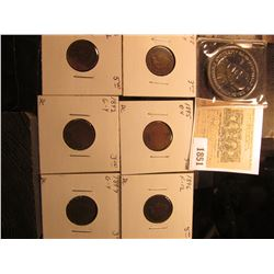 1851 _ 1984 Ronald Reagan Double Eagle Commemorative Medal; 1892, 1893, 1895, 1896, 1897, & 1898 Ind
