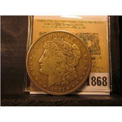 1868 _ 1921 S Silver Morgan Dollar.