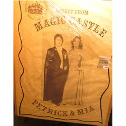 "1885 _ Poster ""A Private Club in Hollywood Magic Castle Direct from Magic Castle Petrick & Mia"". Aut"