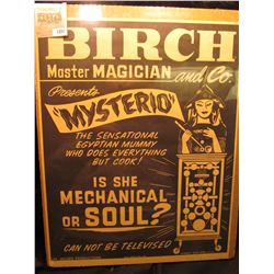 "1887 _ Pair of Old Posters"" ""Magician with Master Magician Kramien and His Company of Wonder Workers"