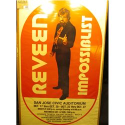 """1889 _ """"Reveen Impossiblist San Jose Civic Auditorium…"""" Magician's poster."""