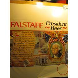 "1894 _ 1976 ""Falstaff President Beer"" Poster. Depicts President Washington."