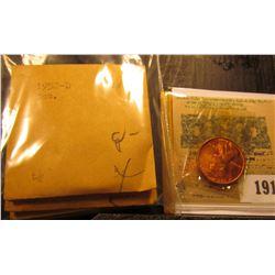 1913 _ 1951 D, 52 D, 53 D, 55 P, D, 56 D, 57 D, 58 D, & 61 D Brilliant Uncirculated Lincoln Cents.
