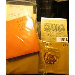 1916 _ (10) 1953D, (9) 55D, (2) 65P, & (5) 66P Gem BU Lincoln Cents.