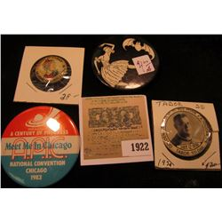 "1922 _ ""July 12, 1939 Golden Jubilee of RT. Rev. Msgr.E.A. Bouska, P.R./Tabor So. Dak."" (valued by D"