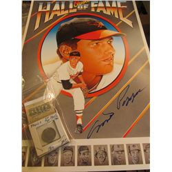"1972 _ Autographed Milt Pappas Poster ""Orioles Hall of Fame"" measures 11 1/2"" x 17""; & 1910 EF, 1938"