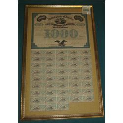 "1975 _ 1867 $1000 ""United States of America Know All Men by these Presents that The State of Tenness"