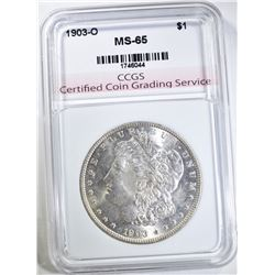 1903-O MORGAN DOLLAR CCGS GEM BU
