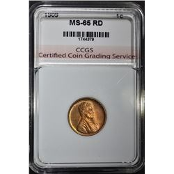 1909 LINCOLN CENT CCGS GEM BU RD