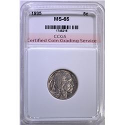 1935 BUFFALO NICKEL CCGS GEM BU