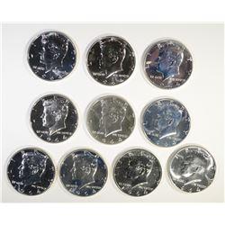 10-PROOF 1964 KENNEDY HALF DOLLARS