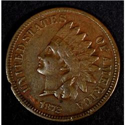1872 INDIAN HEAD CENT, F/VF