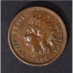 1908-S INDIAN CENT, XF/AU