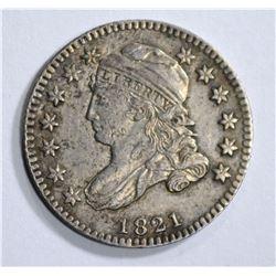 1821 CAPPED BUST DIME, AU