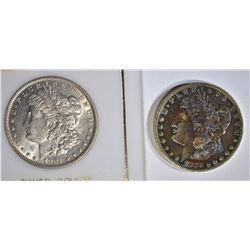 MORGAN DOLLARS: 1881-O AU & 1886-O XF-AU