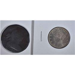 1802 LARGE CENT RIM KNOCKS &