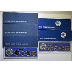 5 SMS SETS: 3- 1966 & 2- 1967