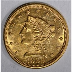1886 $2 1/2 GOLD LIBERTY HEAD  BU