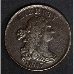 1803 DRAPED BUST HALF CENT  AU
