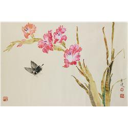 HUANG GUANGJIAN Chinese Modern Watercolor Roll