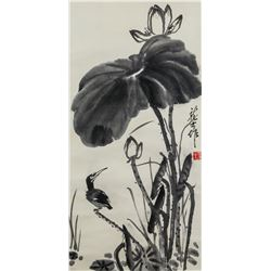 Attr. XIAO LONGSHI Chinese 1889-1990 Ink Scroll