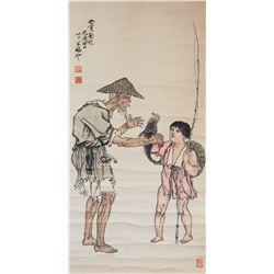 Attr. XU BEIHONG Chinese 1895-1953 Watercolor