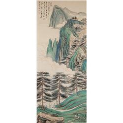 Attr. ZHANG DAQIAN Chinese 1899-1983 Watercolor