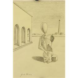 Attr. GIORGIO DE CHIRICO Italian 1888-1978 Pencil