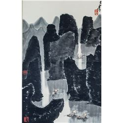 Attr. LI KERAN Chinese 1907-1989 Watercolor Scroll