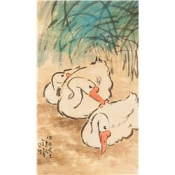 Attr. XU BEIHONG Chinese 1895-1953 Watercolor