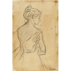 Attr. EDGAR DEGAS French 1834-1917 Graphite/Paper