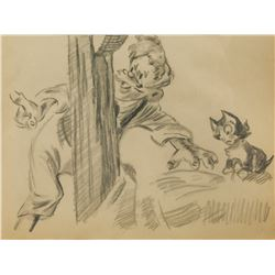 Attr. WALT DISNEY US 1901-1966 Graphite on Paper