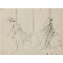 PARL HELLEN Artist Signed Graphite on Paper Women
