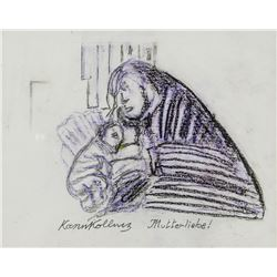 Attr. KATHE KOLLWITZ German 1867-1945 Charcoal